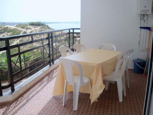 Terrasse avec vue sur la plage de la Sablette