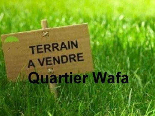 Terrain à vendre quartier Wafa